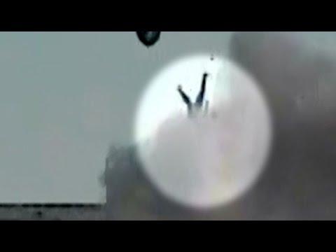 Police chase crash sends suspect flying