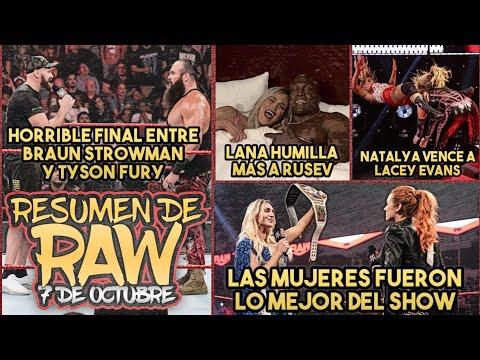 Braun Strowman y Tyson Fury se Fueron a los Golpes/Natalya vence en el Last Woman Standing