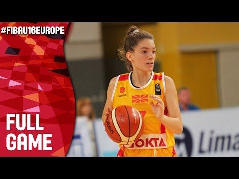 Norway v MKD - Full Game - FIBA U16 Women's European Championship 2017 - DIV B