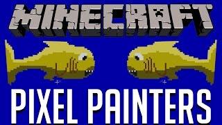 Minecraft | FULA FISKAR | Pixel Painters Minigame på Svenska med figgehn & Whippit