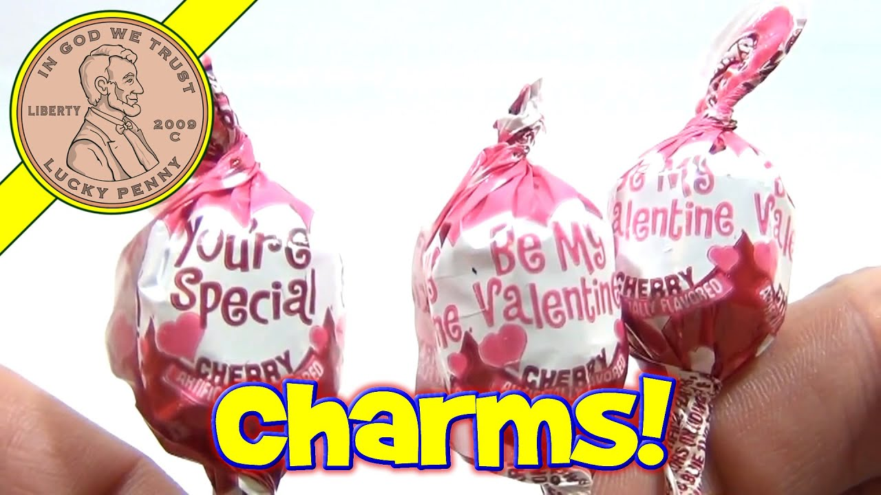 Charms Cherry Flavored MiniPops Messages - Valentine's Candy Series