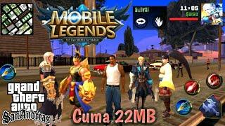 GTA MOBILE LEGENDS Android, Skin Heronya keren banget COY !!!😎   GTA SA Mod