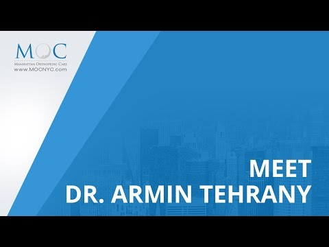 Meet Dr. Armin Tehrany, Top New York Orthopedic Doctor