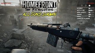 Homefront: The Revolution - All Guns Shown