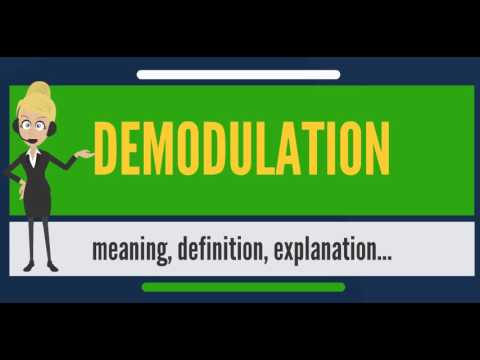 What is DEMODULATION? What does DEMODULATION mean? DEMODULATION meaning, definition & explanation