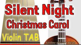 Silent Night - Christmas Carol - Violin - Play Along Tab Tutorial