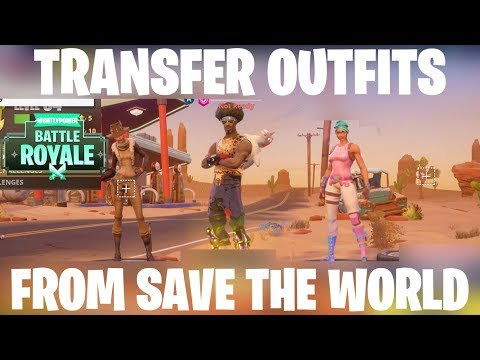Transfer Any Save The World Skins To Fortnite Battle Royale!! Fortnite Save The World Outfit Glitch!