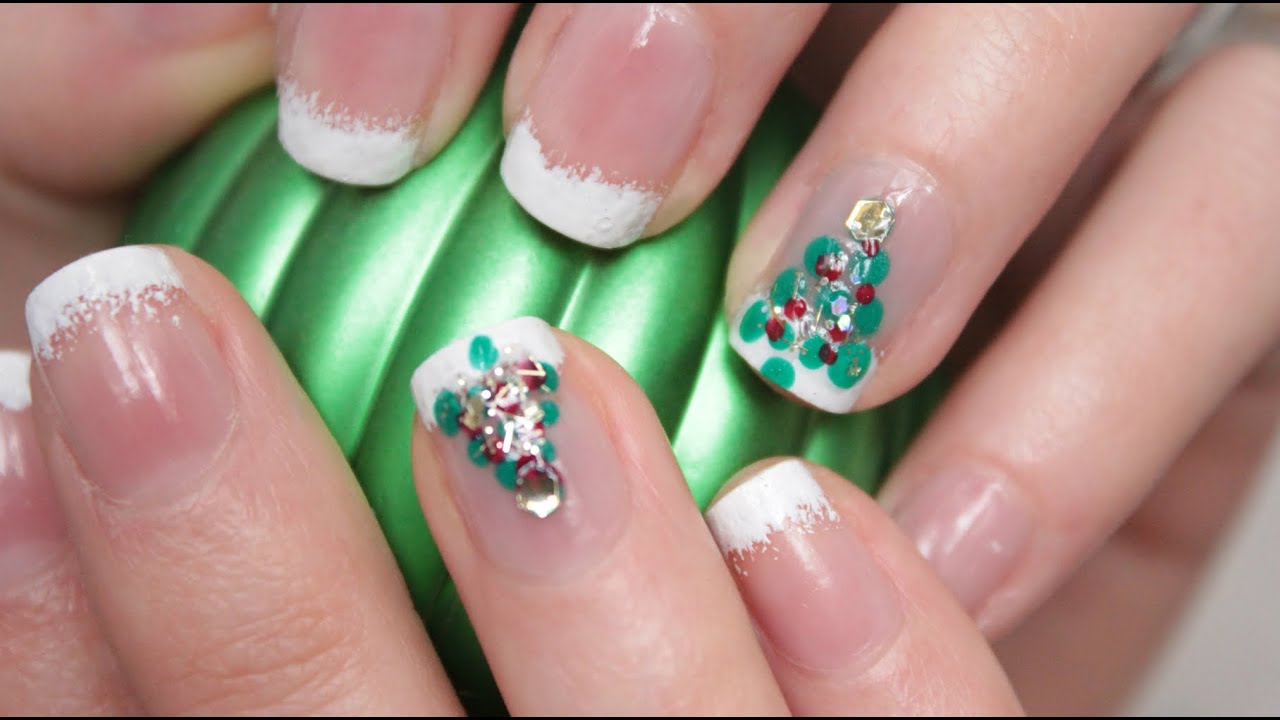 Nail art de no l simple et discret youtube - Nail art noel facile ...