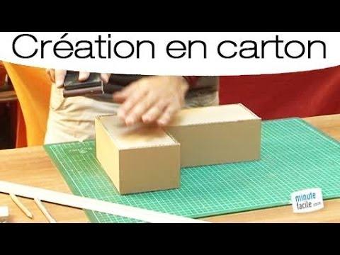 Fabriquer une lettre en carton mode d 39 emploi youtube for Construire meuble en carton
