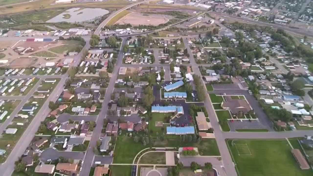 Evanston, WY drone flyover - YouTube
