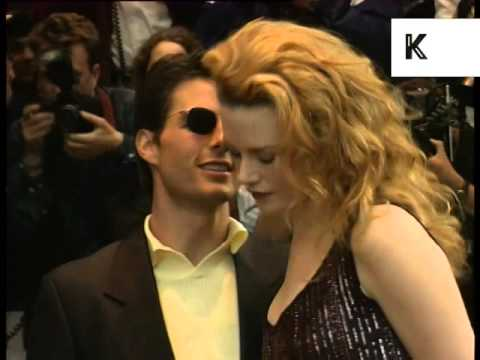 Tom Cruise and Nicole Kidman at the Mission Impossible London Premiere,  1990s