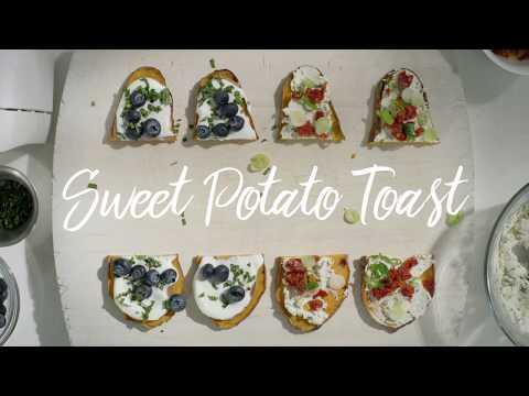 Sweet Potato Toast Two Ways: Sweet & Savoury