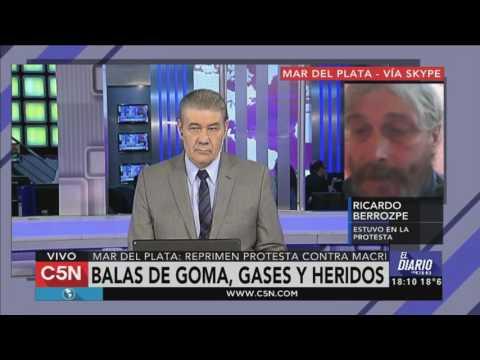 C5N - Mar del Plata: balas de goma, gases y heridos en protesta contra Macri