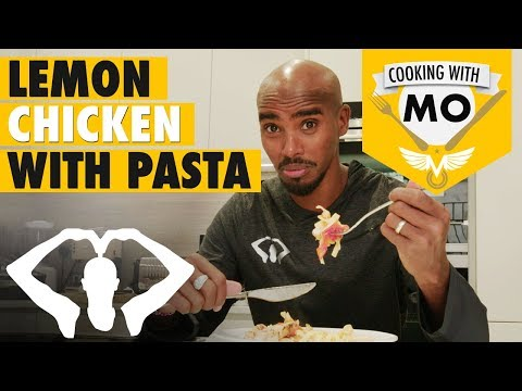 MO FARAH COOKING DEMONSTRATION! | Lemon Chicken with Tagliatelle