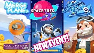 Merge Plane | Space Trek - New Event! | Unlocking Plane No.15 Max Level