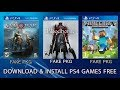 How to download and install PS4 games for free