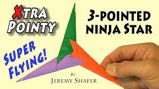 Origami Extra Pointy Three Pointed Ninja Star 2.0