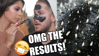 DIY BLACKHEAD MASK ON MY HUSBAND!! OMG