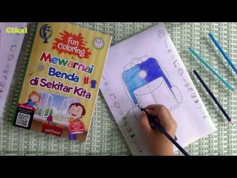 Mewarnai Tas Sekolah Benda Di Sekitar Kita Dengan Pensil Warna