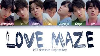 BTS (방탄소년단) - Love Maze (Color Coded Lyrics/Han/Rom/Eng)