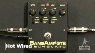 TECH 21 SANSAMP GT2 GUITAR PEDAL REVIEW (Gibson SG) - GearUP on TMNtv !