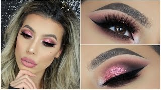New Rose Gold Palette By Huda Beauty Eyeshadow Tutorial