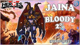 Grubby | Heroes of the Storm - Jaina - Bloody 2% - HL 2018 S3 - Sky Temple