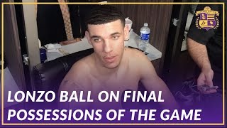 Lakers Post Game: Lonzo Ball on the Final Possessions of the Game Against the Hawks