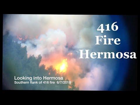 Hermosa, Durango, Colorado 416 wild fire, June 7-9, 2018.