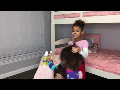 Dani and Dannah play hair salon and Dani slays Dannah's hair