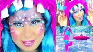 Cute & Colorful Glitter Monster/Alien Makeup & Halloween Costume!