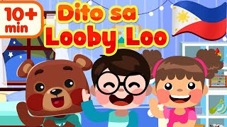 Here We Go Looby Loo in Filipino | Awiting Pambata Compilation Songs