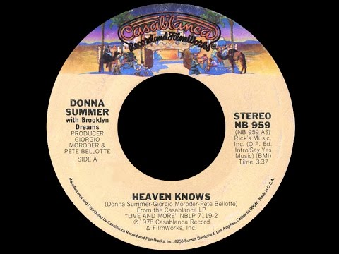Donna Summer ft Brooklyn Dreams  ~ Heaven Knows 1978 Disco Purrfection Version