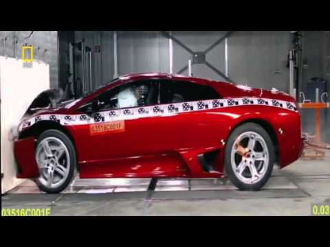 lamborghini murcielago crash test hd - speedingtoday - youtube