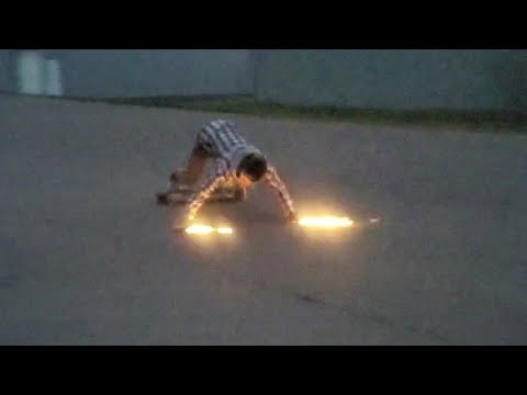 These slide pucks SHOOT A TON OF SPARKS! built in SKATE TOOL!