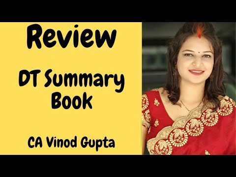 Review: CA Final Direct Tax Summary Book By V.G Sir