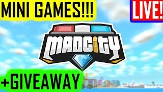 🔴💰MINIGAMES!!! +GIVEAWAY!!! 💰(MAD CITY RobloX)🔴