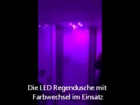 regendusche mit led duschkopf youtube. Black Bedroom Furniture Sets. Home Design Ideas