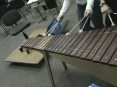 Mrs. Davis from Hazelbrook Middle School doing a 4 Mallet Jam on B'Elanna's Marimba