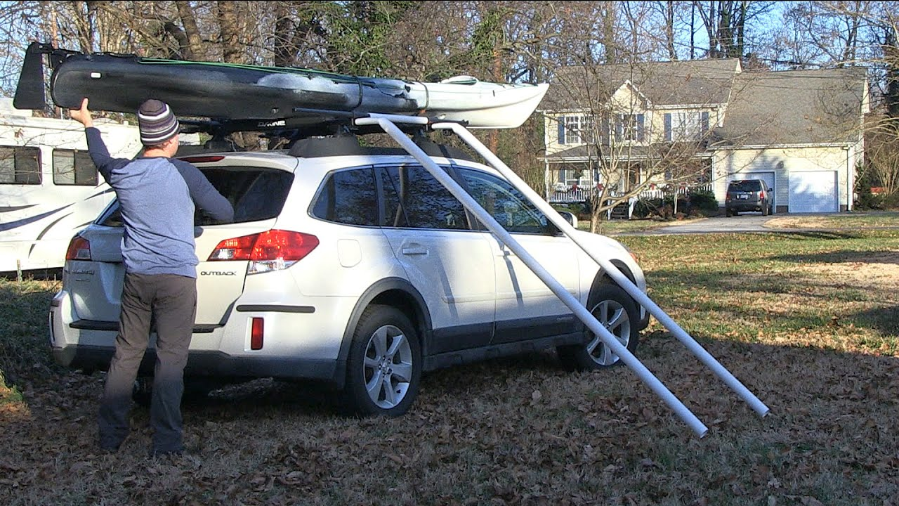 Diy Kayak Boat Canoe Loader No Lifting Youtube