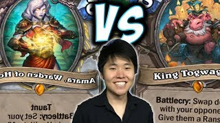 QUEST PRIEST VS KING TOGWAGGLE DRUID | AMARA | THE WITCHWOOD | HEARTHSTONE | DISGUISED TOAST