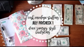 Stuffing my CASH ENVELOPES | July Part 1 | Dave Ramsey Inspired Budgeting