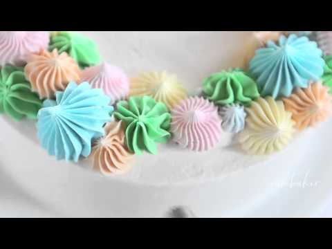 Easy Mothers Day Cake Using An Open Star Tip Youtube