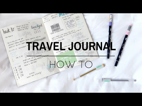 how to travel journal | studywithmaggie