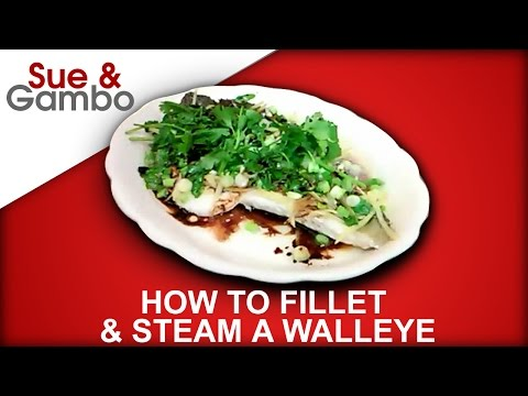 How to Clean ( fillet )  & Cook ( Steam ) a Walleye