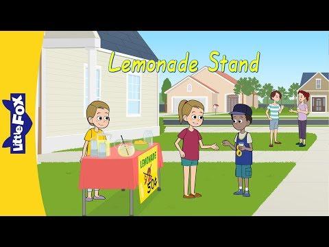 Lemonade Stand   Family   Neighborhood   Little Fox   Animated Stories for Kids