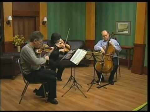 The Aspen String Trio: Schubert String Trio in Bb, D. 581 - Movement 1:  Allegro moderato