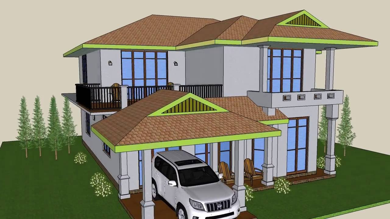 Sri lanka new house plans digana aluthwatta youtube for House plan with photos