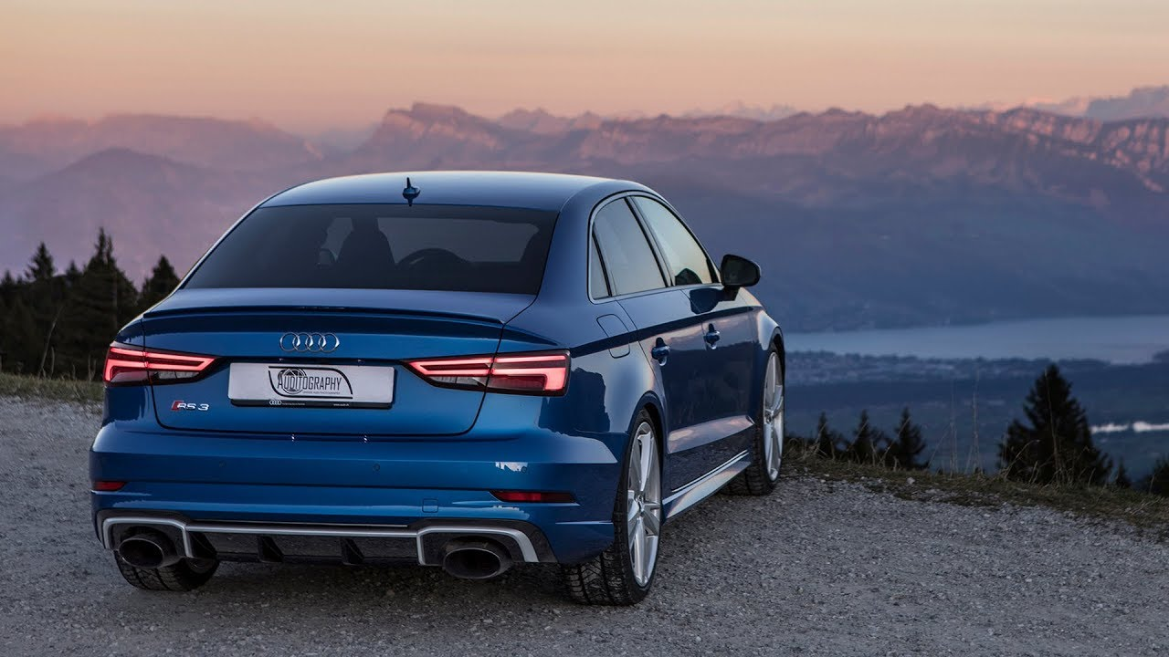 2018 400hp audi rs3 sedan - almost causing an avalanche in the alps