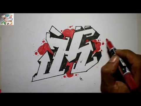 Very Easy How To Draw Graffiti Bubble Letters K For Kids Step By